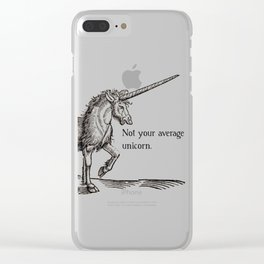 Not your average unicorn Clear iPhone Case