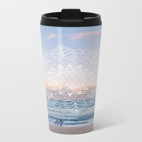 Twilight surf mandala Metal Travel Mug