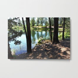 Cold, Clear Waters of Remote Forebay Lake Metal Print