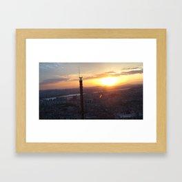 Sunset in Seoul Framed Art Print