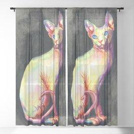 White Sphynx Sheer Curtain