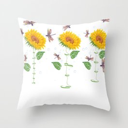 New Mexico Socorro City Sunflower hope love Gifts For Men Women Throw Pillow