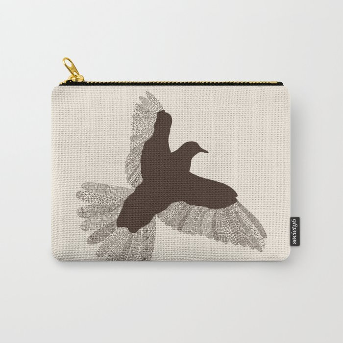 Bird (On Beige) Carry-All Pouch