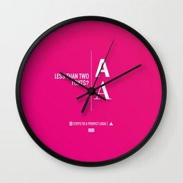 Perfect Logo Series (4 of 11) Wall Clock