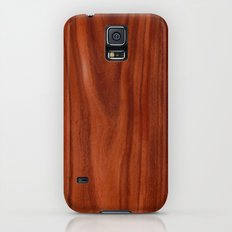 Beautiful red wood design Galaxy S5 Slim Case