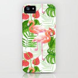 Flamingo garden iPhone Case