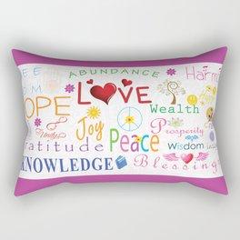 Inspirational Words Rectangular Pillow