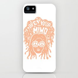 Open Your Mind in orange iPhone Case