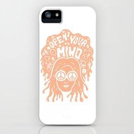 Open Your Mind in orange iPhone Case