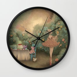 Flowers for the Table Wall Clock