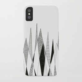 Spikes and Pines (pen on paper) iPhone Case