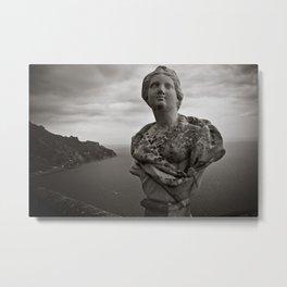 Italian Bust on Amalfi Coast Metal Print