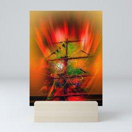 Sailing romance Mini Art Print