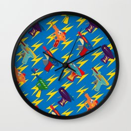pew pew Wall Clock