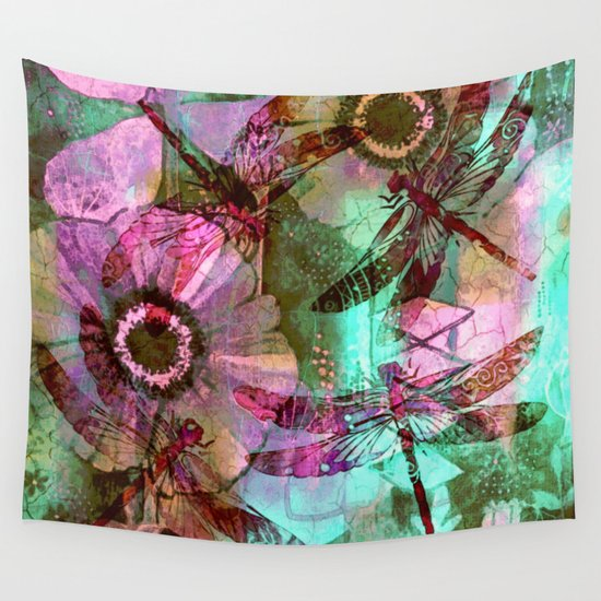 Dragonflies in a Dream Wall Tapestry