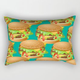 Double Cheeseburgers Rectangular Pillow