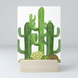 Desert Vacay Three Cacti Mini Art Print