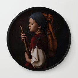 Girl With Big Plans Wall Clock