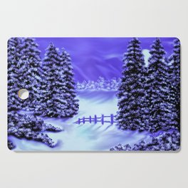 Moon Over The Mountain Cutting Board