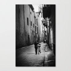 Cycle girl Canvas Print