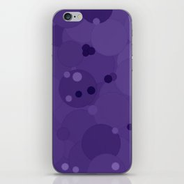 Gentian Violet Bubble Dot Color Accent iPhone Skin