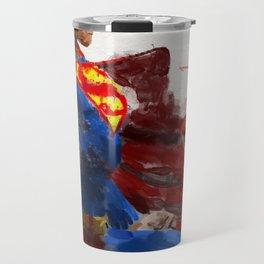 Watercolour Superman Travel Mug