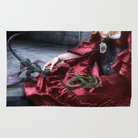mother of dragons Area & Throw Rugs featuring mother of dragons by YattaGiulia