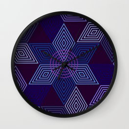 Op Art 100 Wall Clock