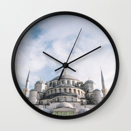 Istanbul, blue mosque Wall Clock