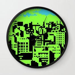 cityscape 07A (C64 remix) (2011) Wall Clock