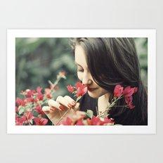 The Flower Lady Art Print