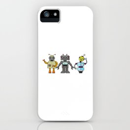 The Three Robots,  A Trio Of Retro Robots iPhone Case