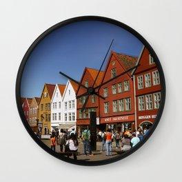 Bergen Bryggen Wall Clock