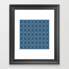 denuti (blue) Framed Art Print