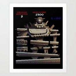 Donkey Colossus Art Print
