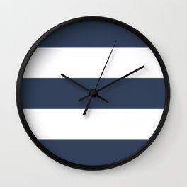 Blue Rugby Striped Art Wall Clock