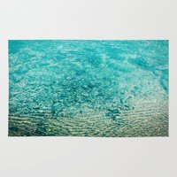 clear Area & Throw Rugs featuring Crystal Clear by Juste Pixx Photography