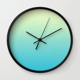 Sunny Disco Ball Ombre Wall Clock