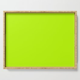 Green solid Serving Tray