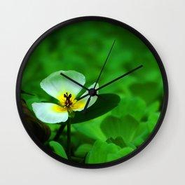 white green Wall Clock