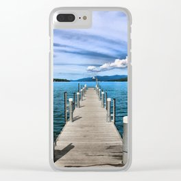 Stepping to the Sea Clear iPhone Case