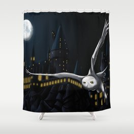 Hedwig's flight at Night Shower Curtain