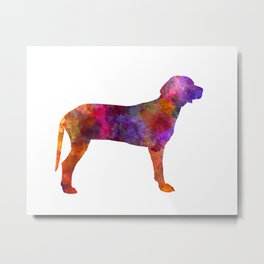 Serbian Hound in watercolor Metal Print