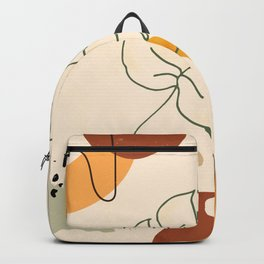 Monstera Leaf Contemporary Abstract Backpack
