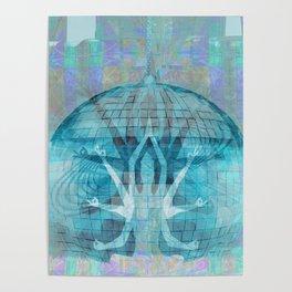 Blue Kali Goddess Visionary Poster