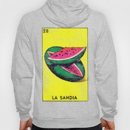 La Sandia Mexican Loteria Bingo Card Hoody