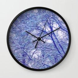 Winter lace Wall Clock