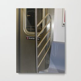 Subway Door Metal Print