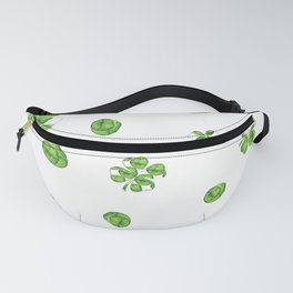 Watercolor  Lucky Charm Pattern Fanny Pack