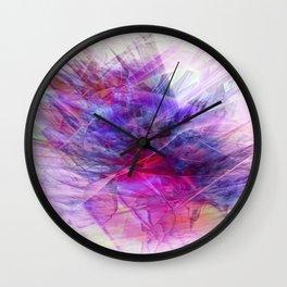 Digital Floral Abstract Wall Clock